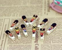Mini pinzas de madera soldadito