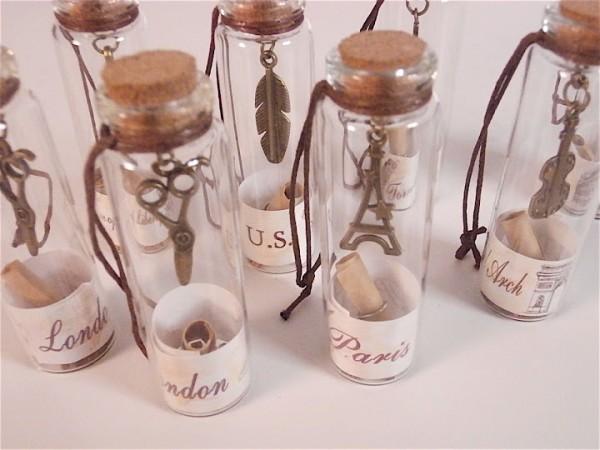 mini frascos de cristal