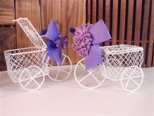 Triciclo decorativo con tapa
