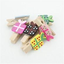 Mini pinzas de madera regalo