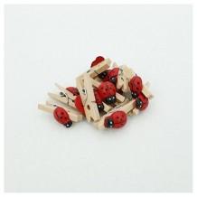 Mini pinzas mariquita