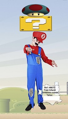 Disfraz Mario zombie
