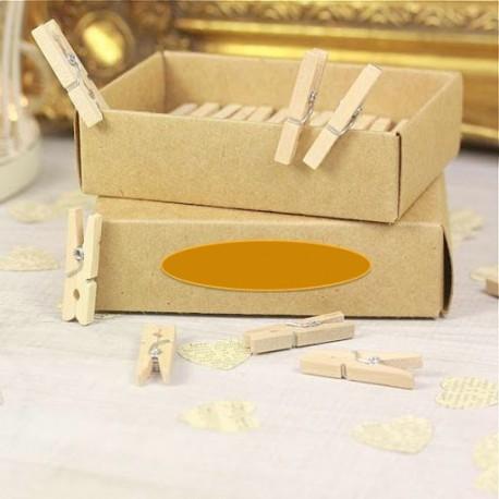 Mini pinzas de madera