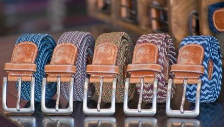 Cinturon trenzado multicolor