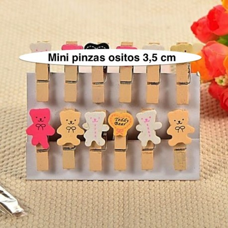 Mini pinzas de ositos