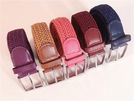 Cinturón elástico trenzado liso