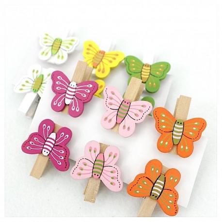 Mini pinzas de madera mariposa para trabajos manuales y - Trabajos manuales de madera ...