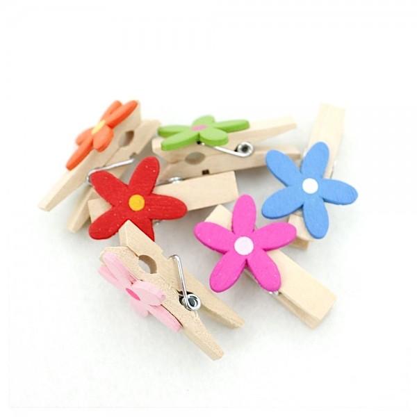 Mini pinzas de madera flor para trabajos manuales y - Trabajos manuales de madera ...
