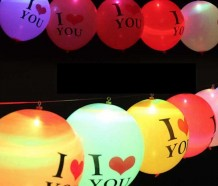 "Globos led I ""love you"""