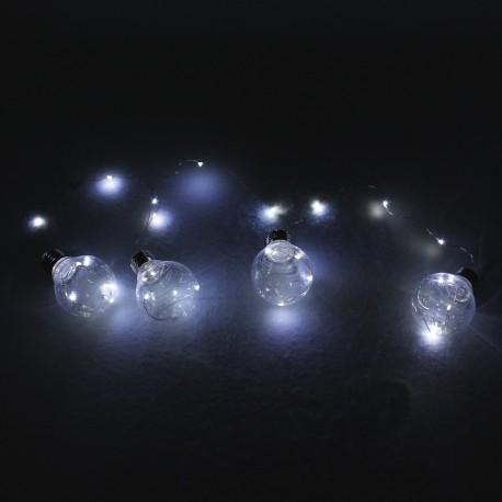Guirnalda de bombillas transparentes