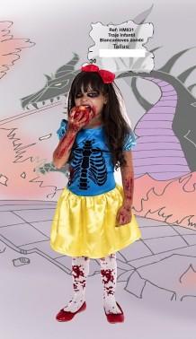 Disfraz Blancanieves zombie