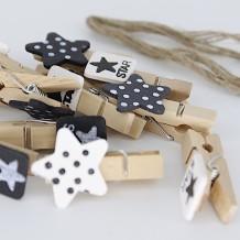 Mini pinzas estrella