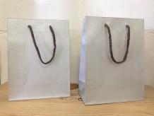 Bolsa de cartón plata envejecida