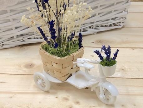 Jardinera en forma de moto