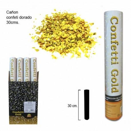 Cañon de confeti dorado