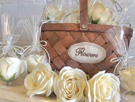Rosas de jabón blancas