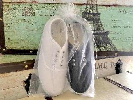 Bolsa de organza calzado