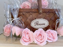 Rosas de jabón rosas
