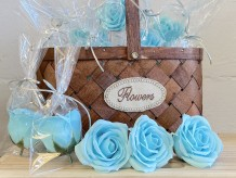 Rosas de jabón azul
