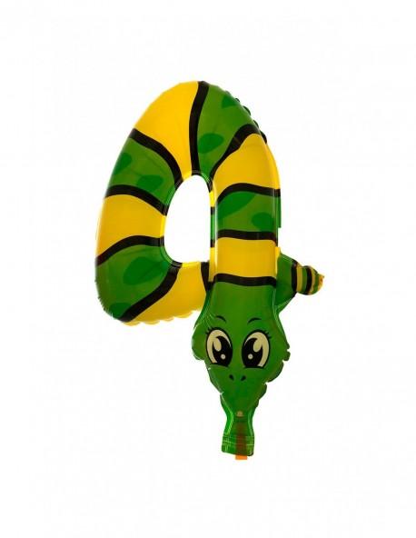 """Globo número cuatro """"serpiente"""""""