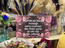 "Cartel ""bonito mensaje"""