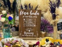 """Cartel """"una boda se vive tres veces"""""""
