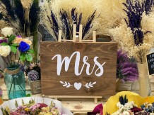 "Cartel ""Mr/Mrs"""
