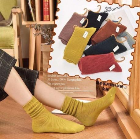 Calcetines de lana y algodón