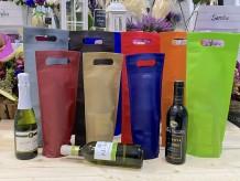 Bolsa de tela con asa para botellas