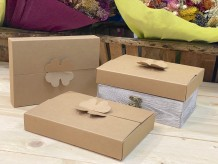 Caja de cartón trébol