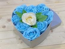 Caja de regalo con rosas de jabón