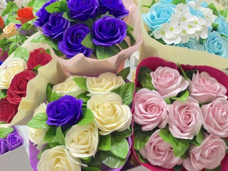 Ramos de rosas de jabón