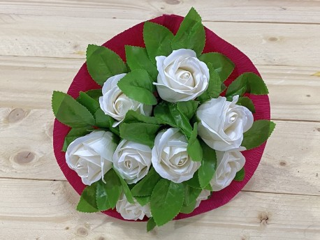 Bouquet de rosas de jabón