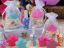 Perfumador con jabon en cesta