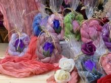 Foulard y rosa de jabón