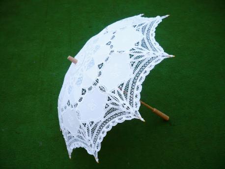 Sombrilla china de ganchillo novia